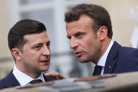 Zelenski y Macron