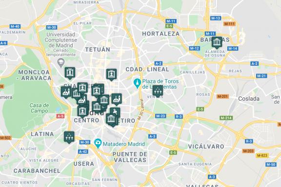 Mapa de Madrid en la web MADsecreto