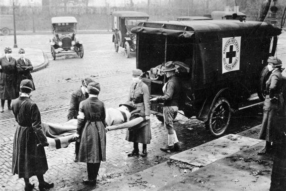 Víctima de la gripe de 1918, San Louis.